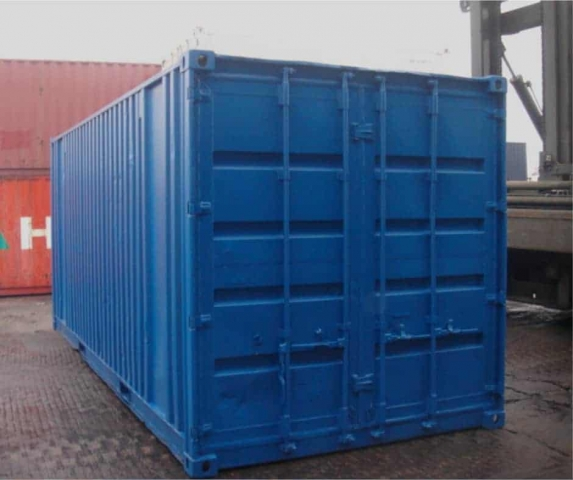 Second-hand 20ft container repainted