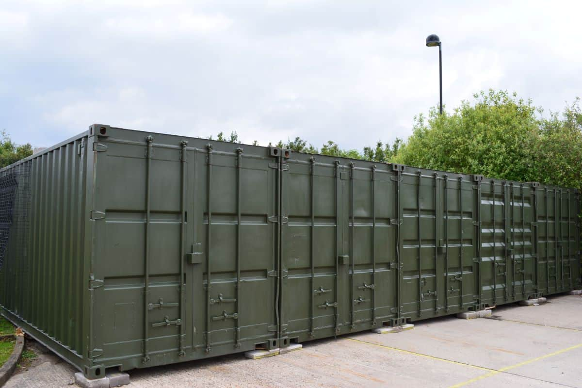 20ft container green repainted