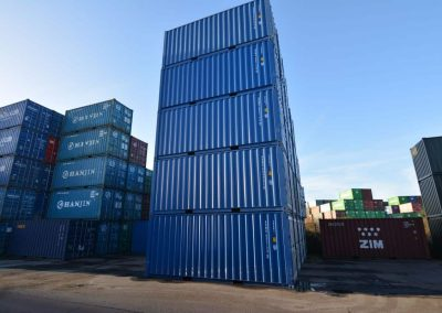 new 20ft shipping container blue