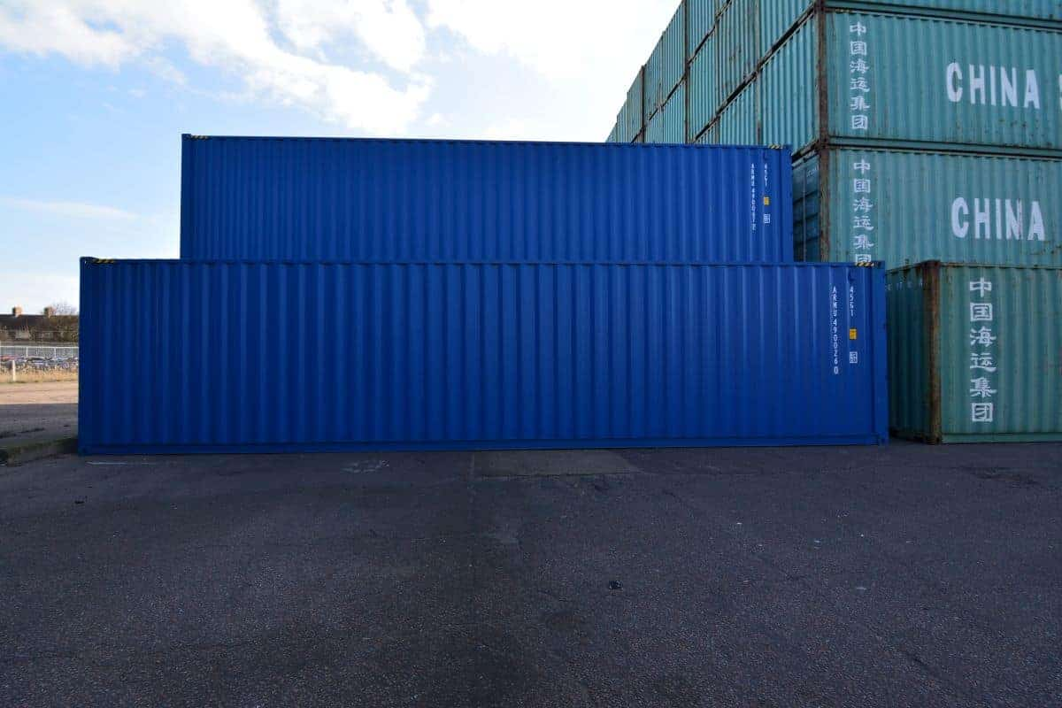 40ft container blue