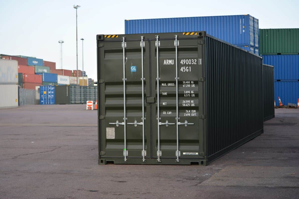 40ft shipping container green