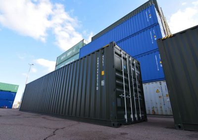 new 40ft container green