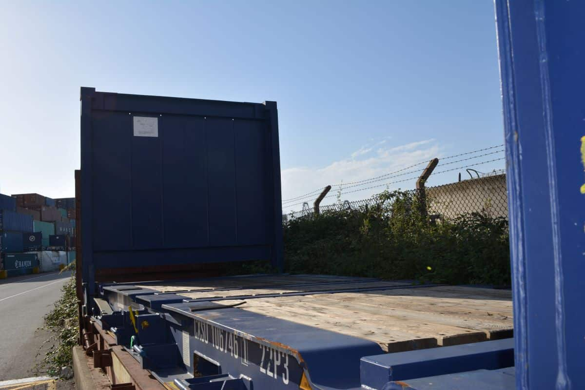 used 20ft flat rack container sale