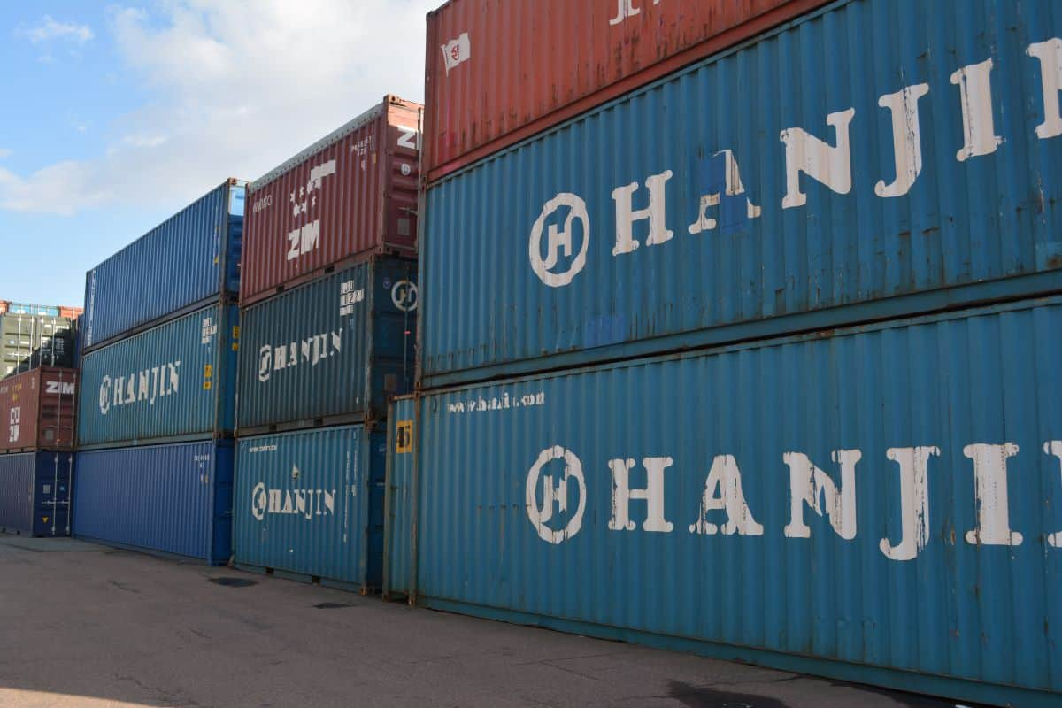 used container sale blue