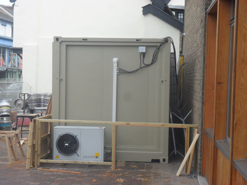 converted insulated 20ft container with new frigerated machinery
