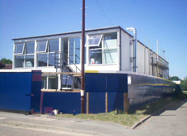 Site office container conversion